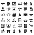 business working icons set simple style vector image vector image