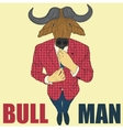 Cartoon character bull vector image vector image