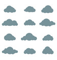 cloud set rainy clouds isolated weather signs vector image