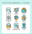 cryptocurrency icons concept vector image vector image