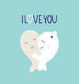 cute monsters in love vector image vector image