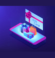 digital gift card isometric 3d concept vector image vector image