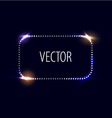 dot frame with light effects vector image vector image