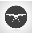 Drone black round icon vector image