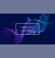 dynamic abstract liquid flow particles background vector image vector image