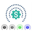 Financial sphere shield options flat icon