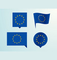 flag of the european union as a pin vector image vector image
