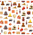 flat style china elements pattern vector image vector image