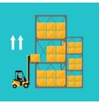 Forklift truck with boxes on pallet vector image vector image