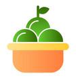 fruit basket flat icon basket of apples color vector image