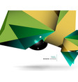 geometrical abstract triangle background vector image