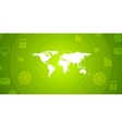 Global communication green tech design vector image vector image
