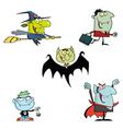 Halloween Monsters Cartoon Characters vector image