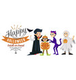 happy halloween horror family party poster vector image vector image