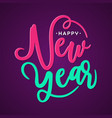 happy new year greeting card or background letter vector image vector image