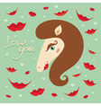 horse kiss valentine vector image vector image
