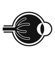 Human eyeball icon simple style vector image vector image
