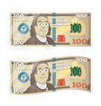 hundred dollars fake 100 bucks bill with benjamin vector image