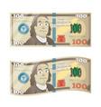 hundred dollars fake 100 bucks bill with benjamin vector image