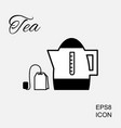 kettle or teapot icon vector image