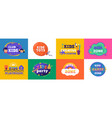 kids club logo for children playing zone and vector image