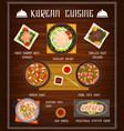 korean food restaurant menu cover template