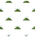 Mountain icon in cartoon style for web vector image vector image