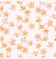 orange spring blossom flowers pattern vector image vector image