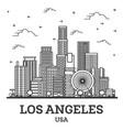 outline los angeles california usa city skyline