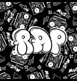 rap hip hop music party in graffiti vector image vector image