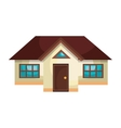 Real estate house isolated flat icon vector image vector image