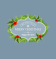 realistic decorative winter holidays concept vector image vector image