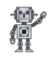 robot toy cartoon vector image vector image