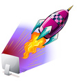 Rocket flying out of computer screen vector image vector image
