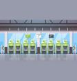 row atm money automatic teller machine payment vector image