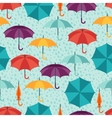 Seamless pattern with cute multicolor flat vector image