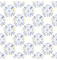 seamless pattern with rund shaped flowers vector image vector image
