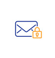 secure mail line icon private message vector image