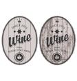 set wine labels vector image