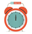 Sixty Minutes Stop Watch - Alarm Clock vector image vector image