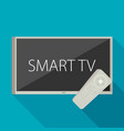 smart tv concept - in flat style with apps and vector image vector image