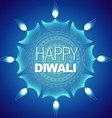 Stylish happy diwali background vector image