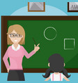 teacher giving a class to school girl vector image