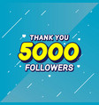 thank you followers congratulation banner vector image