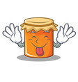tongue out jam mascot cartoon style vector image vector image