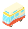 Traveling camper van icon isometric 3d style vector image vector image