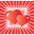 valentine love hearts greeting card vector image vector image