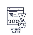 webiste rating line icon concept webiste rating vector image