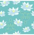 yoga background vector image vector image