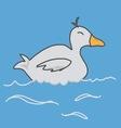 duck swimming vector image